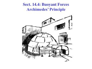 Faction. 14.4: Buoyant Forces Archimedes Principle