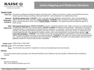 Isoline Mapping and Oklahoma Elevation