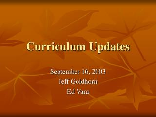 Educational programs Updates