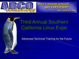 Third Annual Southern California Linux Expo