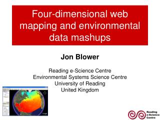 Four-dimensional web mapping and ecological information mashups