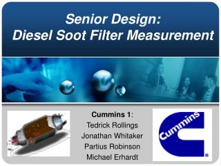 Senior Design: Diesel Soot Filter Measurement