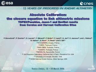 Supreme Calibration: the conclusion comparison to interface altimetric ...