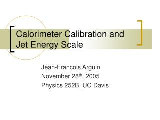 Calorimeter Calibration and Jet Energy Scale