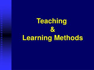 Showing Learning Methods