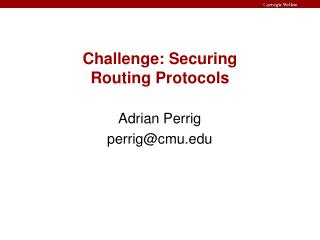 Test: Securing Routing Protocols