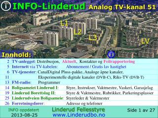 Data Linderud Analog TV-kanal 51