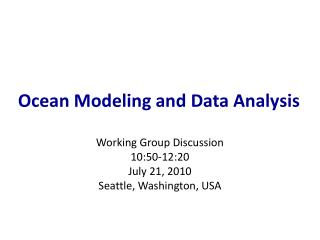 Sea Modeling and Data Analysis
