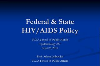 Government State HIV
