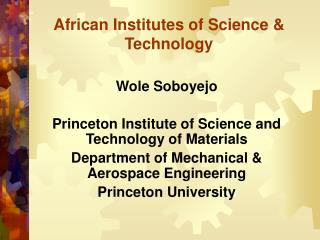 African Institutes of Science Technology
