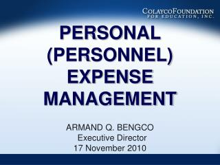 Individual PERSONNEL EXPENSE MANAGEMENT