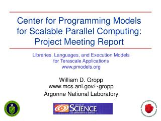 Community for Programming Models for Scalable Parallel Computing ...