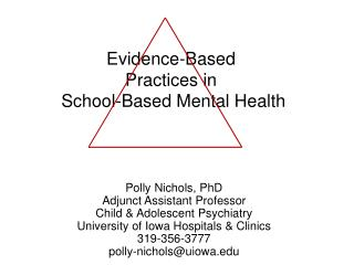 Confirmation Based Practices in School-Based Mental Health