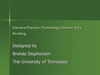 Proficiency Practice: Promoting Content Area Reading