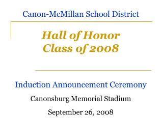 Corridor of Honor Class of 2008