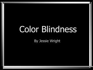 Visual impairment: