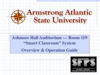 Ashmore Hall Auditorium - Room 119 Smart Classroom System O