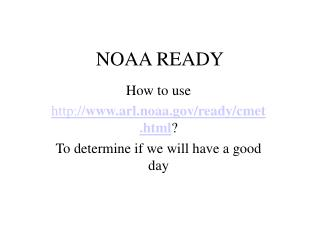 NOAA READY