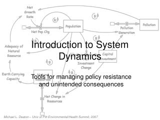 Prologue to System Dynamics