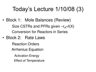 Today s Lecture 1