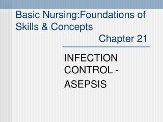 Essential Nursing:Foundations of Skills Concepts Chapter 21
