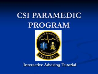 CSI PARAMEDIC PROGRAM