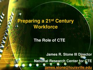 Setting up a 21st Century Workforce
