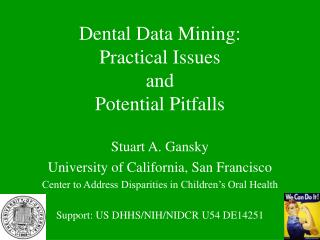 Dental Data Mining: Practical Issues and Potential Pitfalls