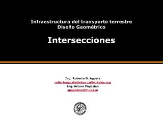 Infraestructura del transporte terrestre Dise