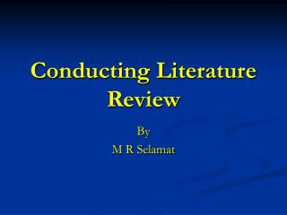 Leading Literature Review