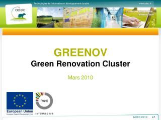 GREENOV Green Renovation Cluster