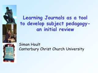 Learning Journals as a device to create subject instructional method a starting survey