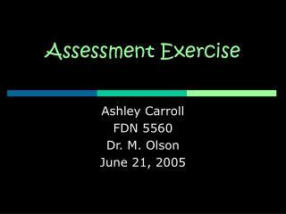 Evaluation Exercise