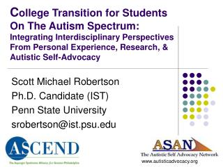 School Transition for Students On The Autism Spectrum: Integrating Interdisciplinary Perspectives From Personal Experie