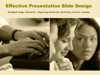 Successful Presentation Slide Design