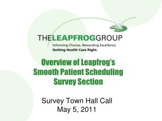 Review of Leapfrog s Smooth Patient Scheduling Survey Section