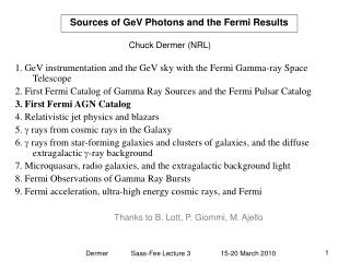 Wellsprings of GeV Photons and the Fermi Results