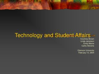 Innovation and Student Affairs