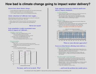 How awful is environmental change going to effect water conveyance