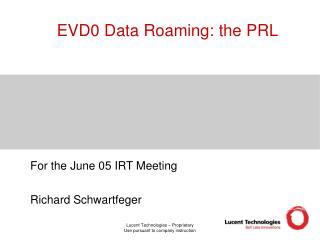 EVD0 Data Roaming: the PRL