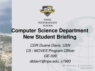 Software engineering Department New Student Briefing