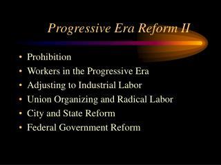 Dynamic Era Reform II