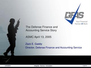 The Defense Finance and Accounting Service Story ASMC April ...