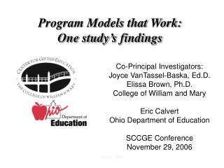 System Models that Work: One study s discoveries