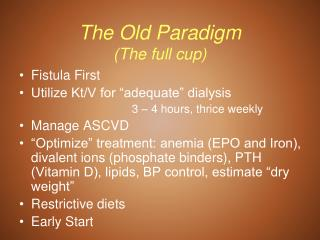 The Old Paradigm The full container