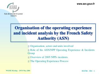 Association of the working background and episode investigation by ...