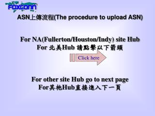 ASNThe methodology to transfer ASN