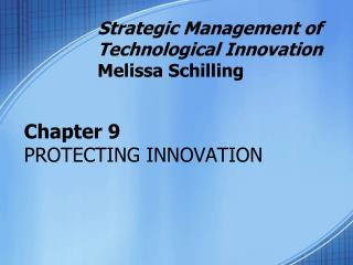 Section 9 PROTECTING INNOVATION