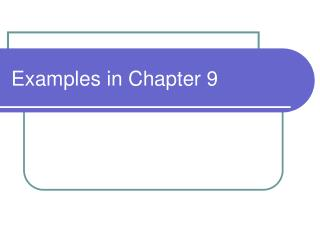 Samples in Chapter 9