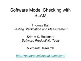 Programming Model Checking with SLAM